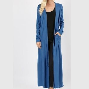 Long line Duster Cardigan in PLUS size